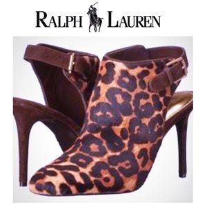 👠Ralph Lauren Rayna ll Leopard Bootie Heels